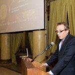 Una fase dell'intervento di Philippe Barrois, AD e Country President di Novartis Italia